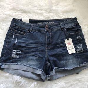 Vanilla Star Distressed Jean Shorts Size 20W